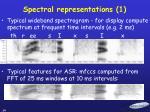 spectral representations 1