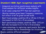 standard hmm digit recognition experiments