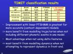 timit classification results