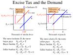excise tax and the demand
