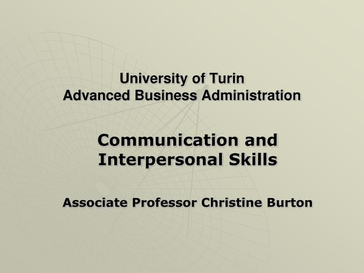 University of turin advanced business administration