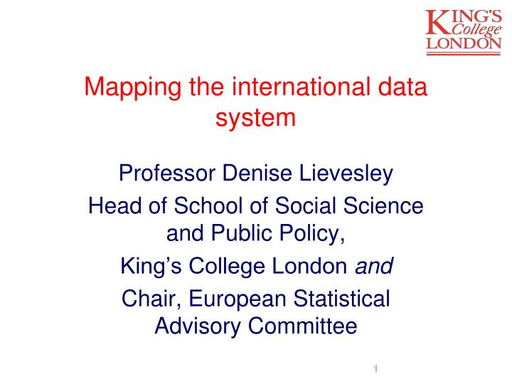 mapping the international data system n.