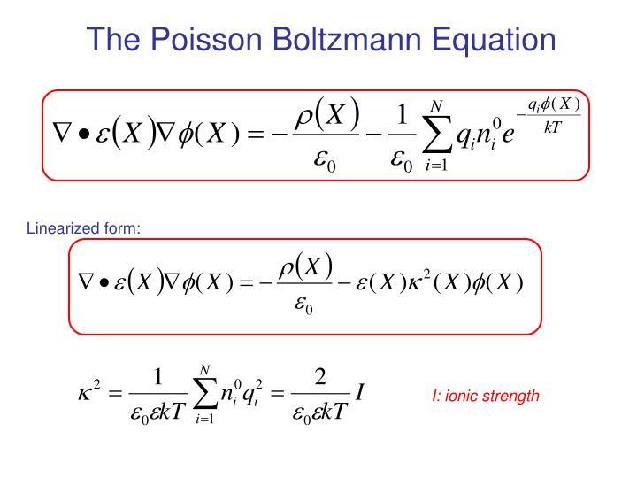 The Poisson Boltzmann Equation
