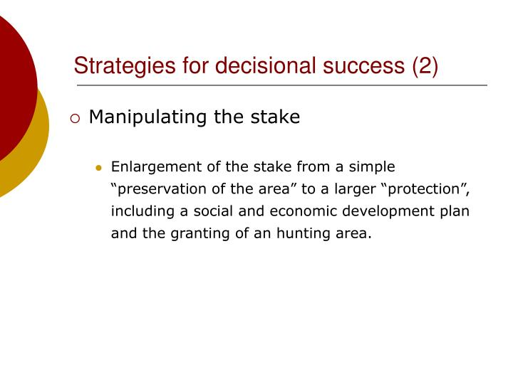 Strategies for decisional success (2)