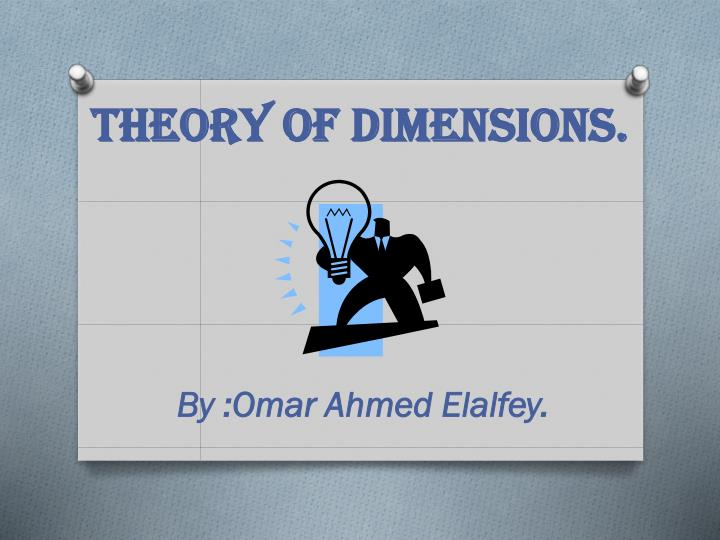 theory of dimensions n.