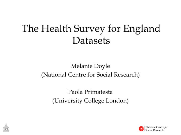 the health survey for england datasets n.