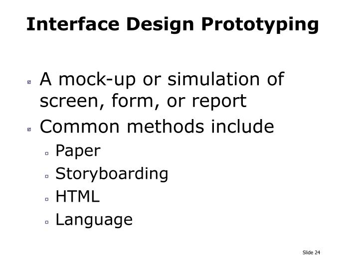 Interface Design Prototyping