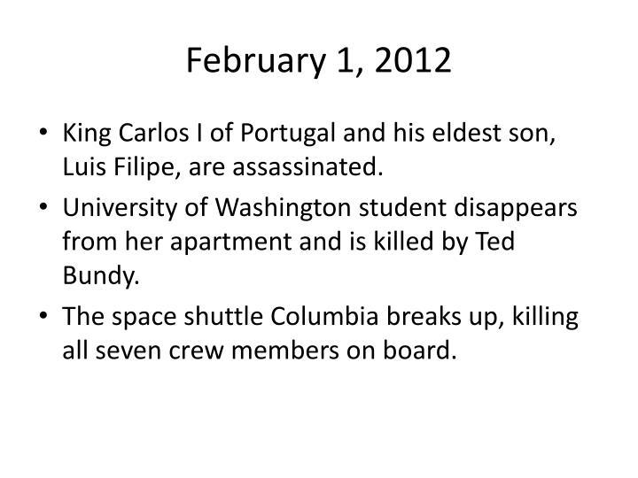 February 1 2012