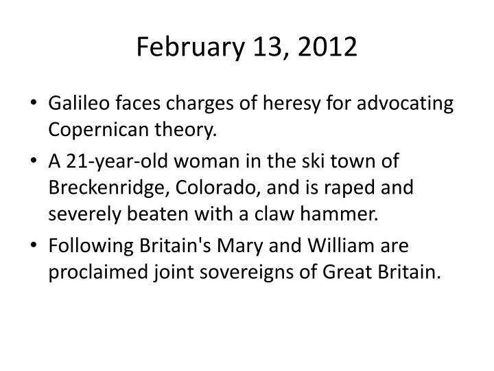 February 13, 2012