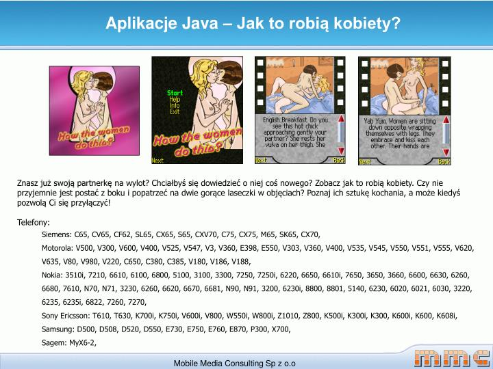 Aplikacje Java – Jak to robią kobiety?