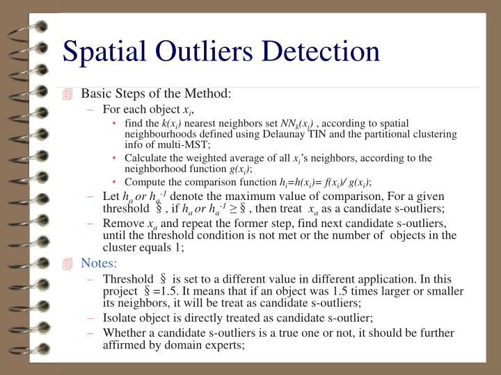 Spatial Outliers Detection