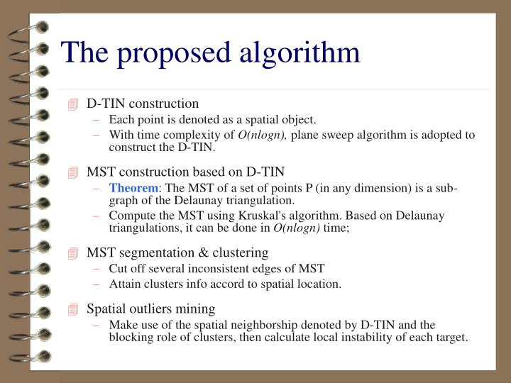The proposed algorithm