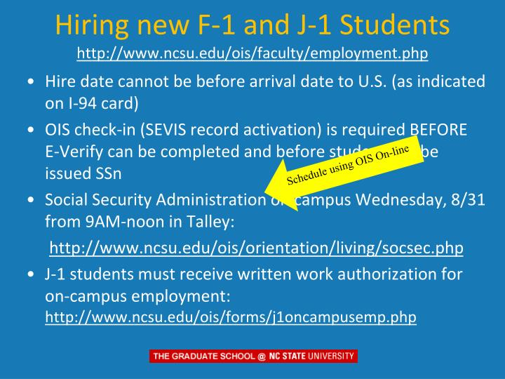 Hiring new F-1 and J-1 Students