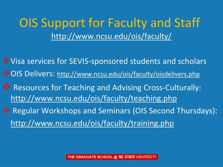 OIS Support for Faculty and Staff