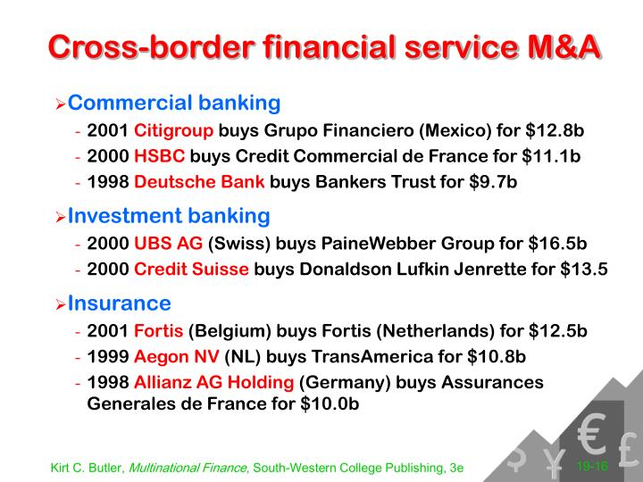 Cross-border financial service M&A