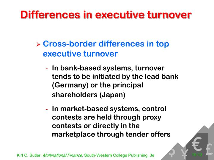 Differences in executive turnover