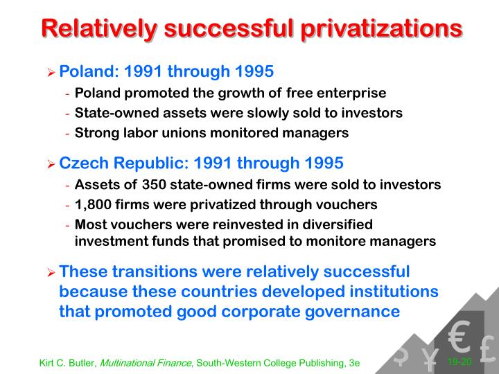 Relatively successful privatizations
