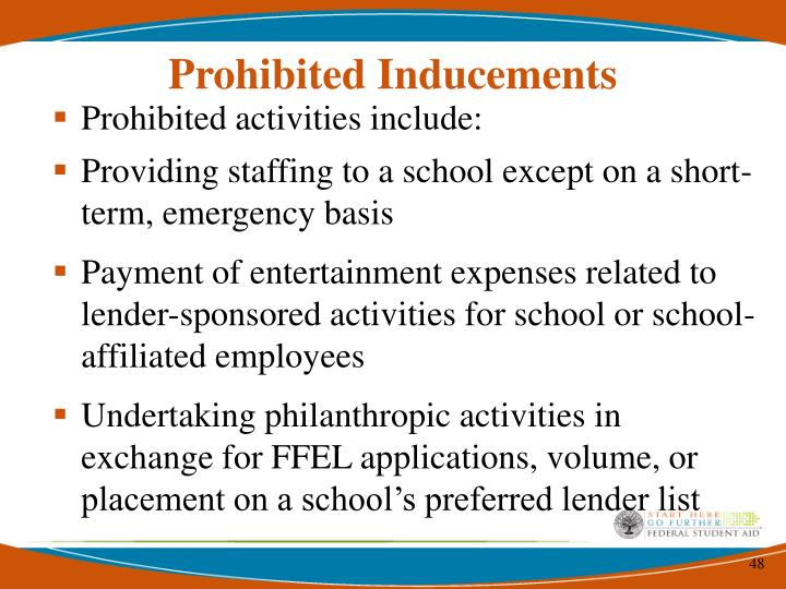 Prohibited Inducements