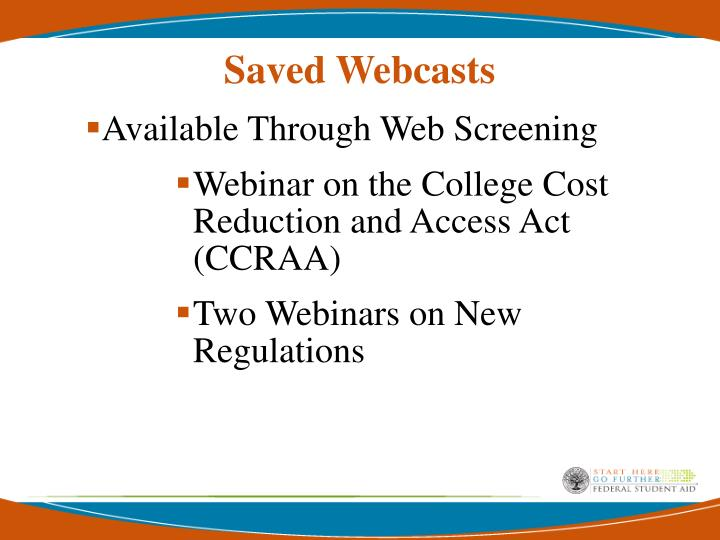 Saved Webcasts