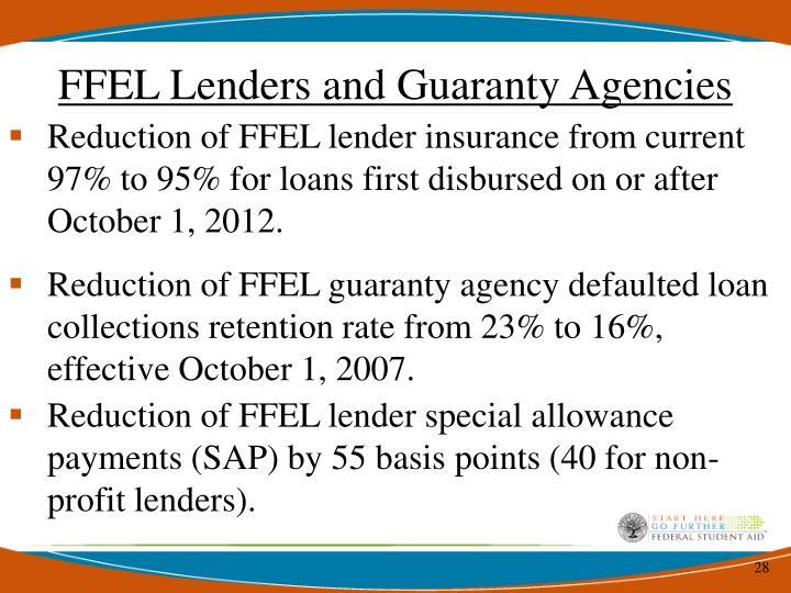 FFEL Lenders and Guaranty Agencies