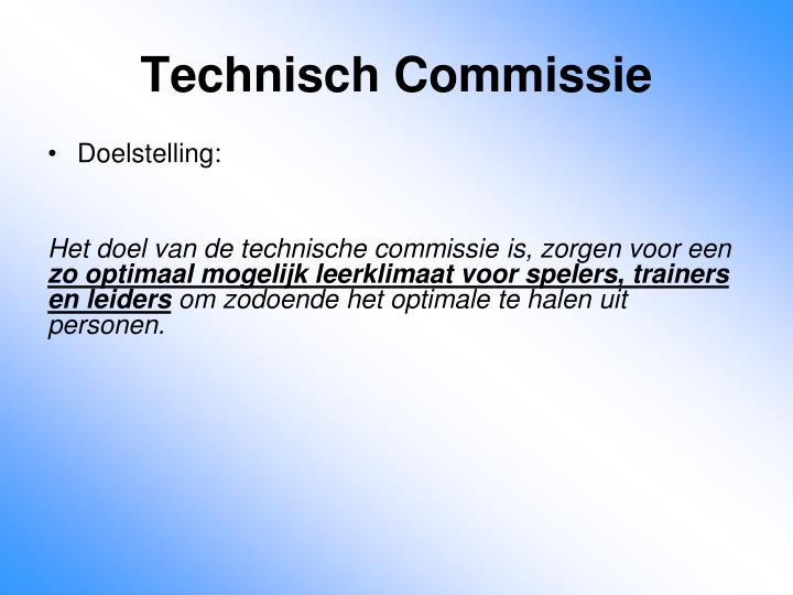 Technisch commissie1