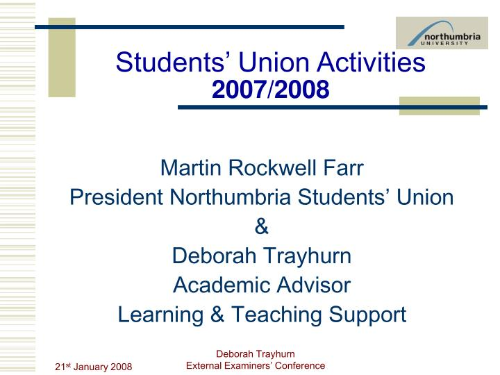 students union activities 2007 2008 n.