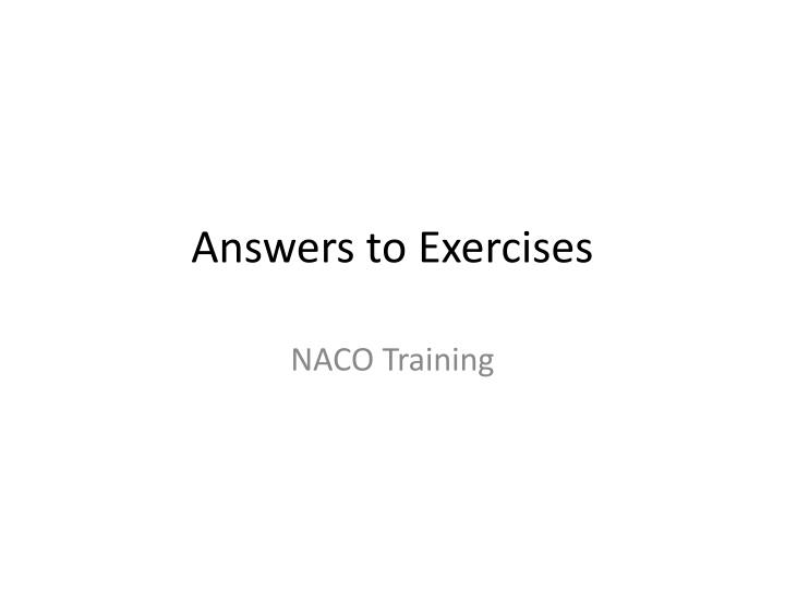 answers to exercises n.