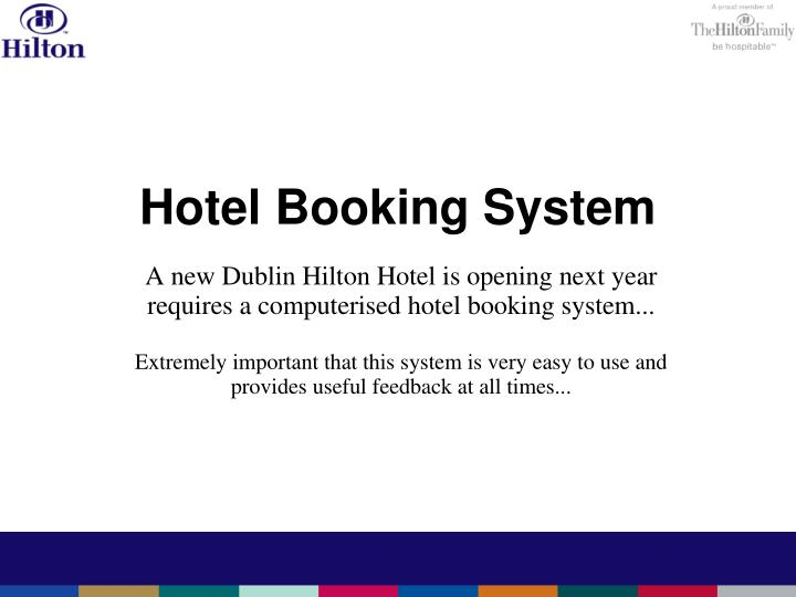 hotel booking system n.
