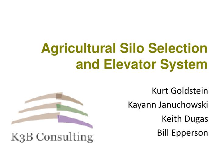 agricultural silo selection and elevator system n.