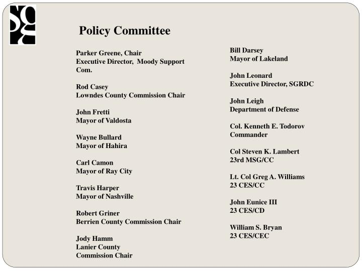 Policy Committee