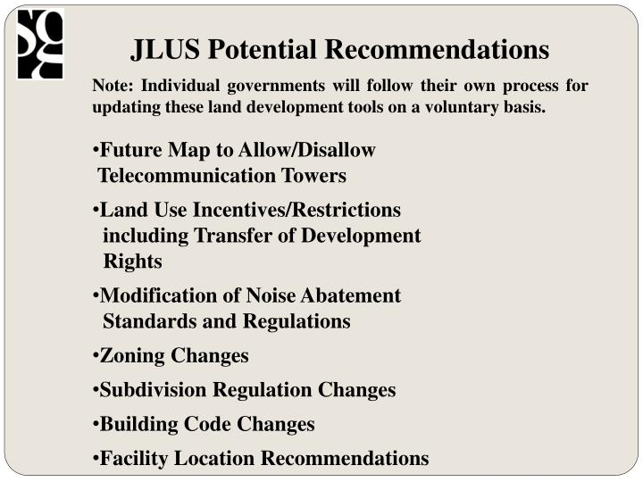 JLUS Potential Recommendations