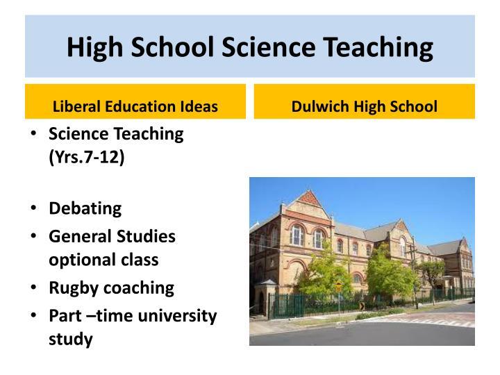 High School Science Teaching