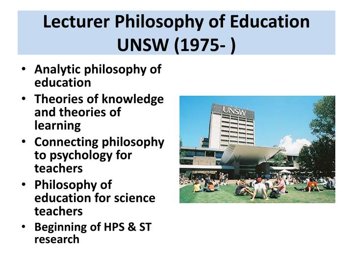 Lecturer Philosophy of Education
