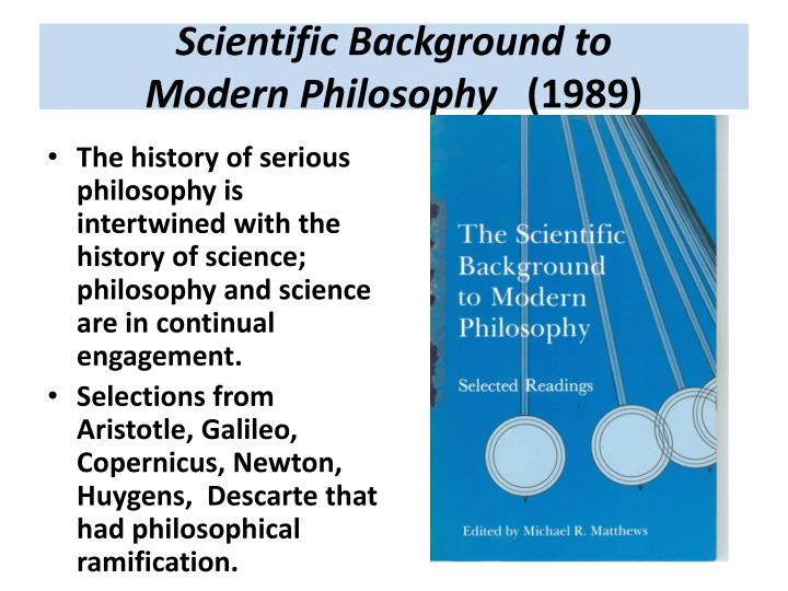 Scientific Background to