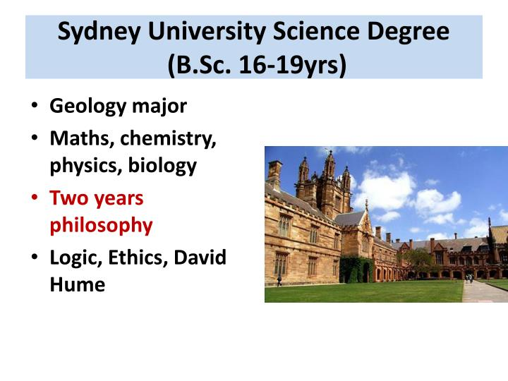 Sydney University Science Degree
