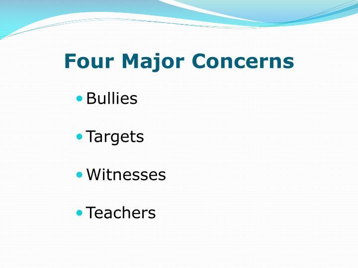 Four Major Concerns