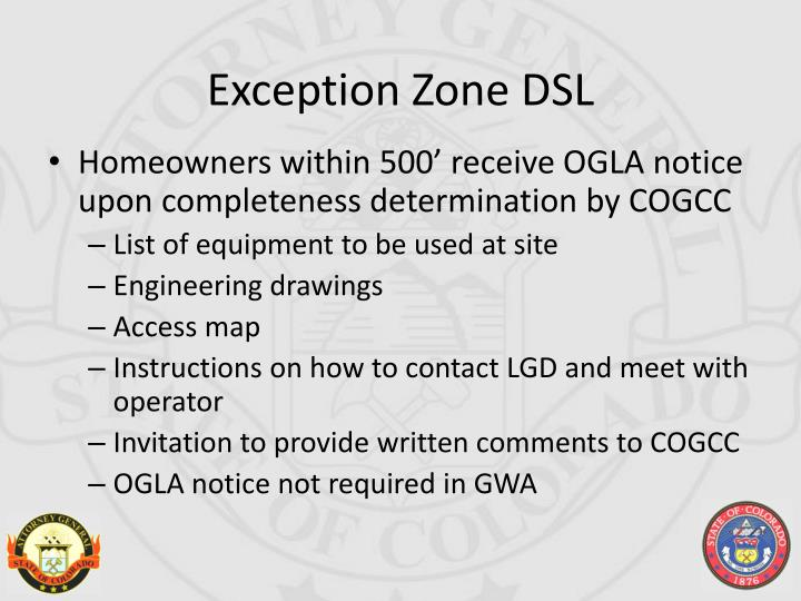 Exception Zone DSL