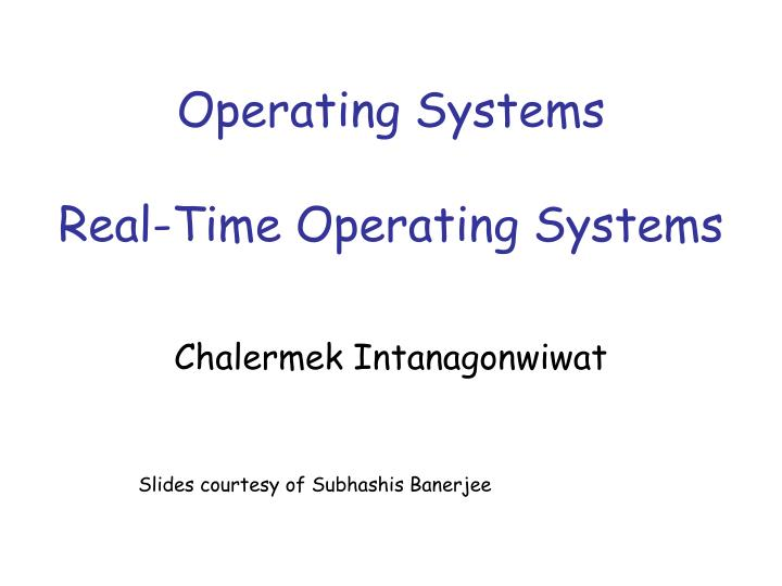 operating systems real time operating systems n.