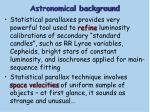 astronomical background