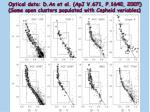 optical data d an et al apj v 671 p 1640 2007 some open clusters populated with cepheid variables