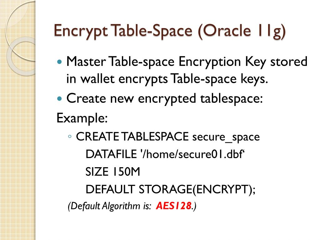 PPT - Oracle Transparent Data Encryption PowerPoint