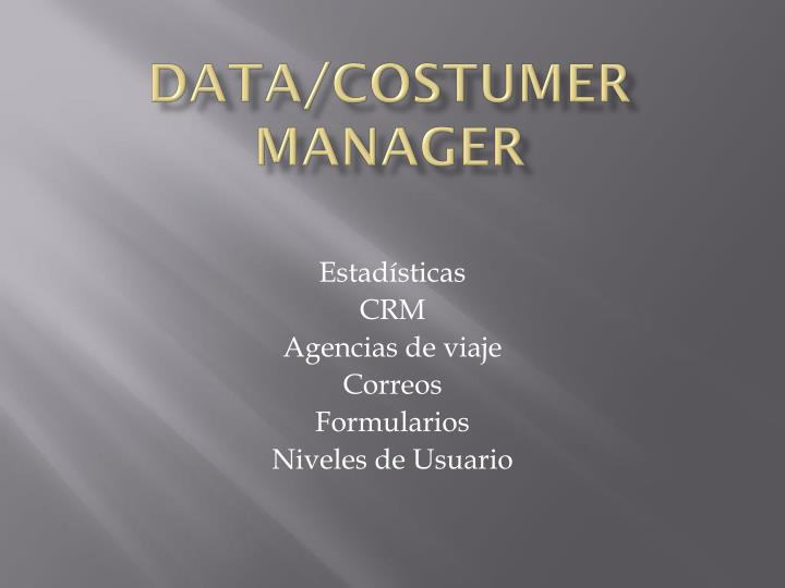 data costumer manager n.