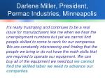 darlene miller president permac industries minneapolis
