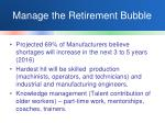 manage the retirement bubble