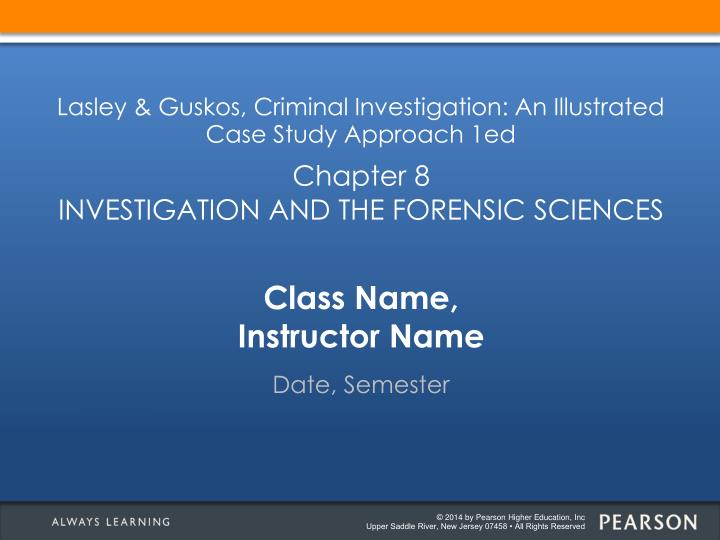 class name instructor name n.