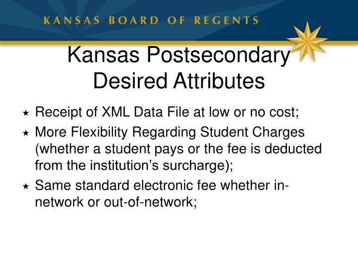Kansas Postsecondary