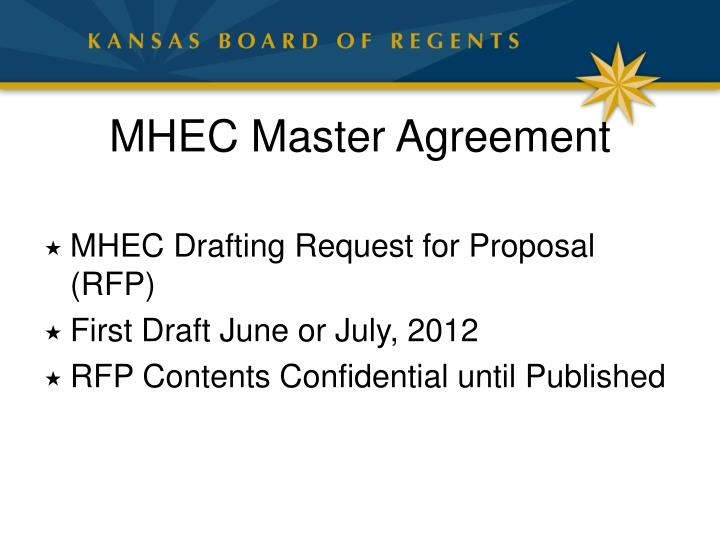 MHEC Master Agreement