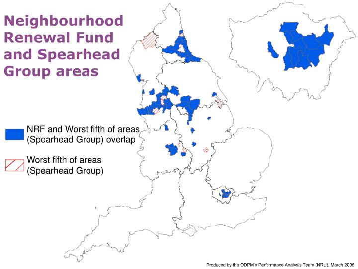 Neighbourhood Renewal Fund and Spearhead Group areas