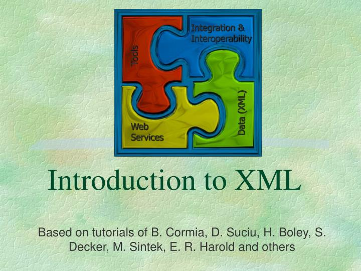 introduction to xml n.