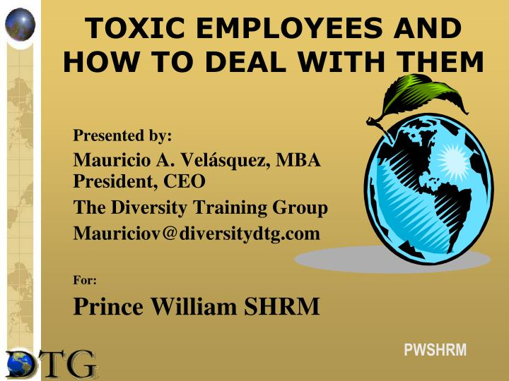 toxic employees and how to deal with them n.